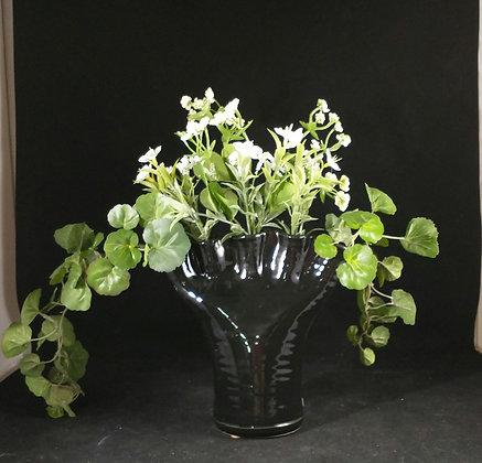 Finger Vase in Black Glaze