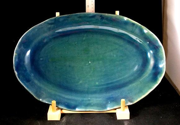 16 inch platter in Eastern Shore Glaze