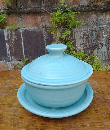 Small colander, 3 pieces in Bermuda Blue Glaze
