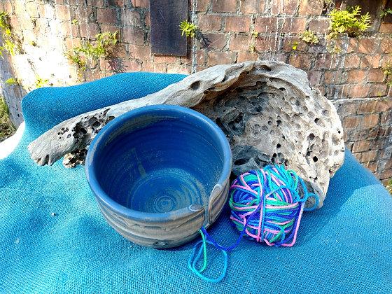 Yarn caddy in Gulf Blue