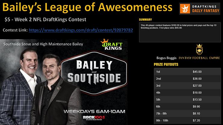 2020 Bailey's League of Awesomeness Draf