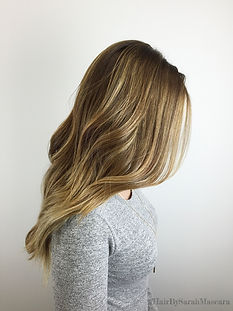 caramel blonde highlights