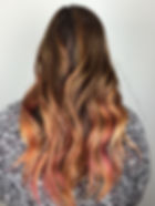 fashion pink mermaid hair
