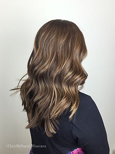highlights in brunette hair
