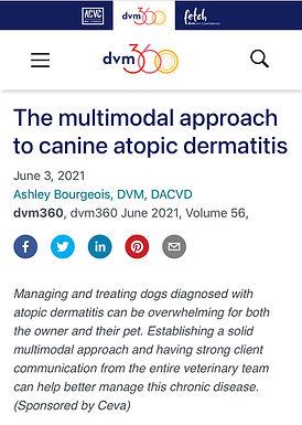 Allergic skin disease in dogs