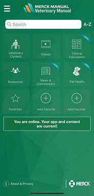 Merck Veterinary Manual app