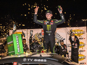 Ty Gibbs Charges to ARCA Victory at Toledo