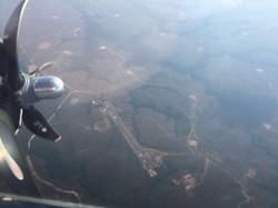 Vista aérea desde nuestro DC3