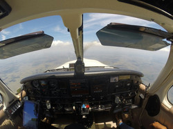 Saratoga en vuelo