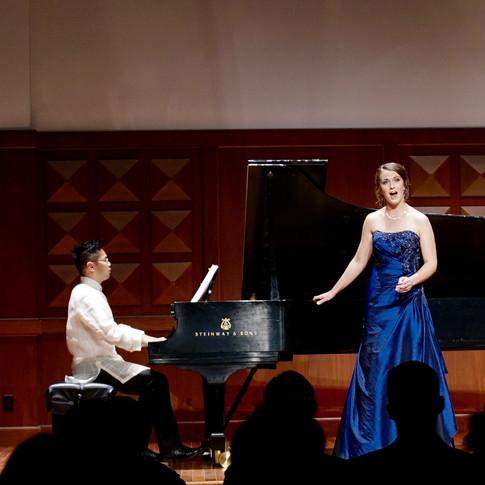 With Jasper Jimenez in recital, April 2016, Los Angeles