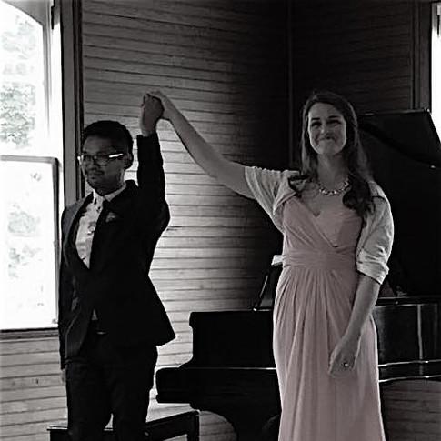 With friend & collaborator Jasper Jimenez in recital, June 2017