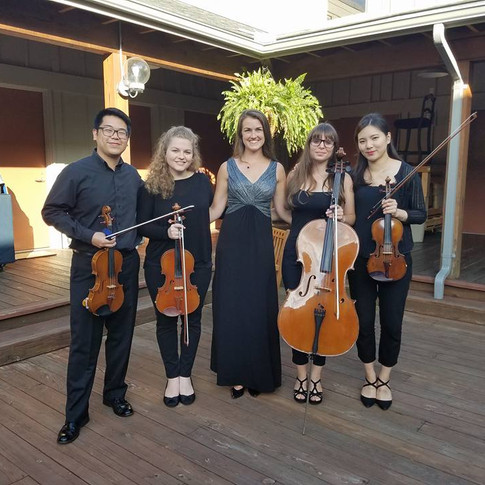 """""""Il tramonto"""" quintet, Tanglewood, August 2017"""