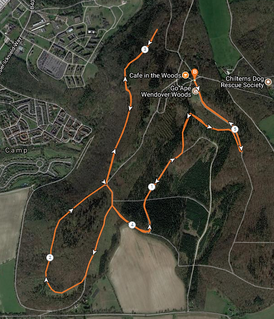 Running Miles Wendover Woods route