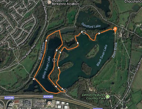 Dinton Pastures running route