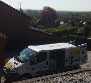 Our van mounted industrial carpet cleaning system