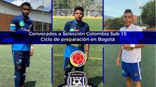 Pedrozo, Girado y Alcázar convocados a Selección Colombia Sub 15