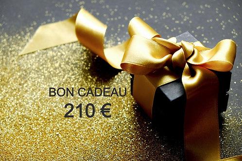 Bon Cadeau 210 €
