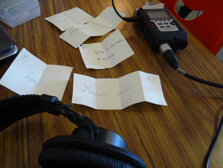 Atelier narration sonore