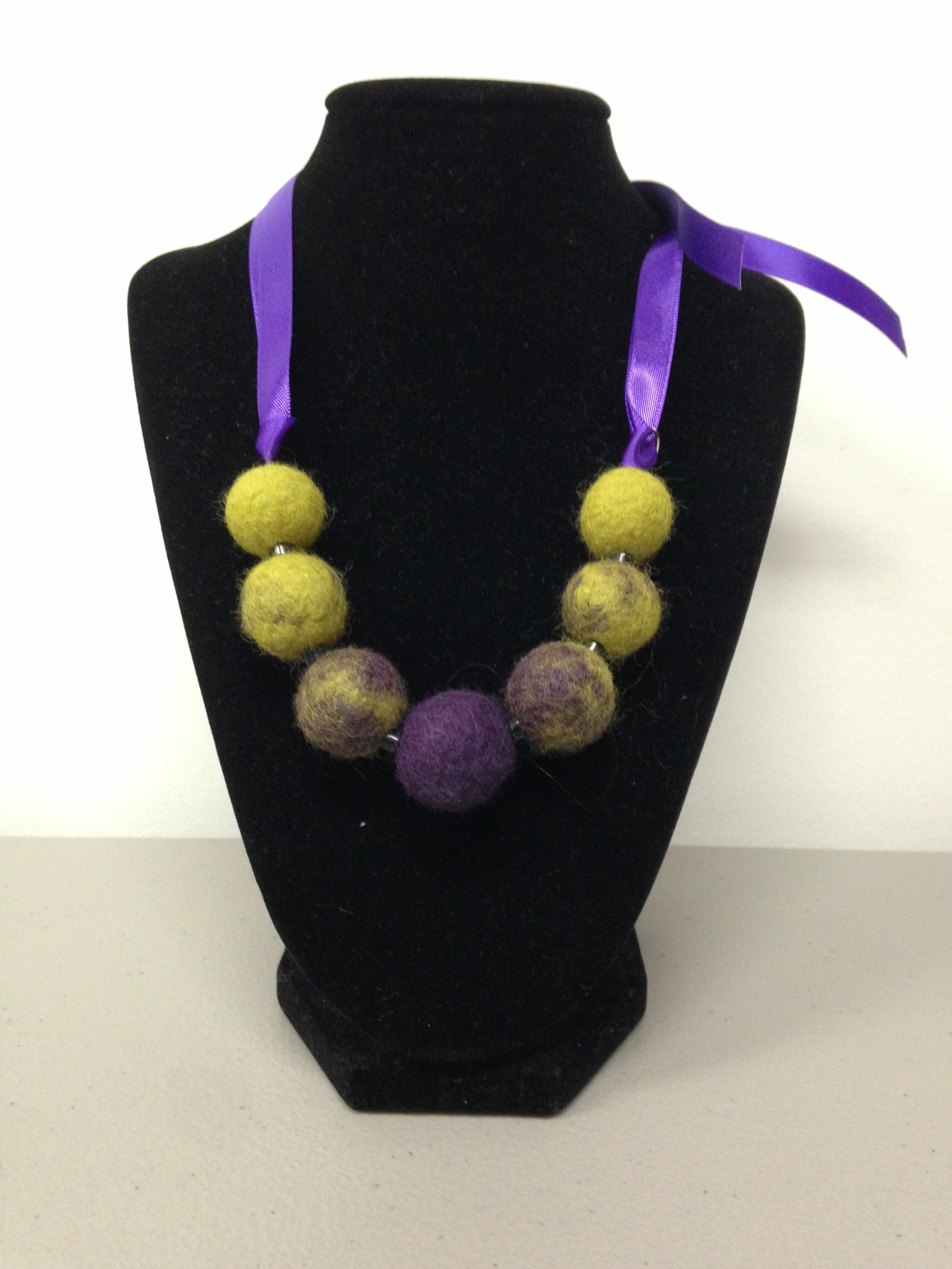 wool bead necklace