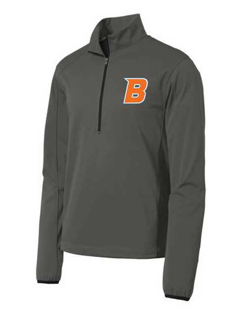 Braves 1/2 zip softshell jacket