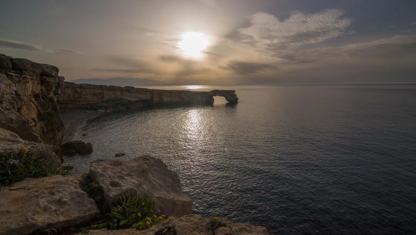 Sundown over the sea