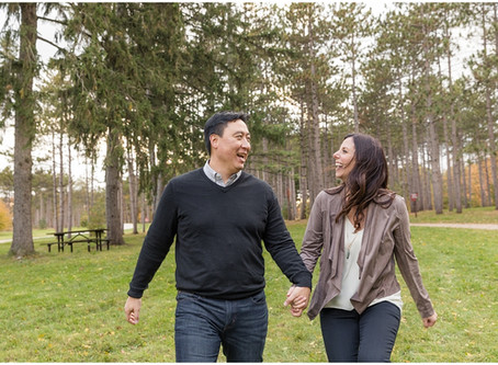 Morton Arboretum Engagement Session | Michele & Roger