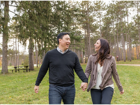 Morton Arboretum Engagement Session | Michele & Roger