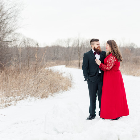 LeRoy Oaks Forever Preserve | Winter Engagement Session