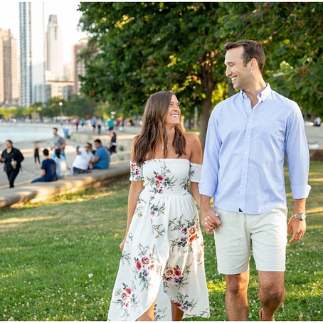 North Avenue Beach Engagement Session | Hillary & Brian