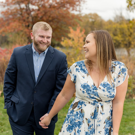 Fabyan Forest Preserve Fall Engagement Photos