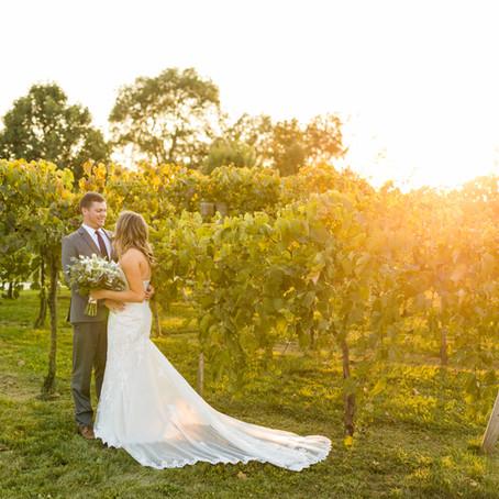 Acquaviva Winery September Wedding | Carly and Dan