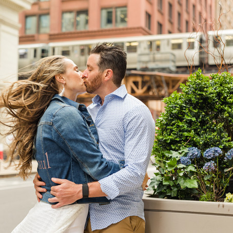 Chicago's Board of Trade Engagement Photos | Holly and Tommy