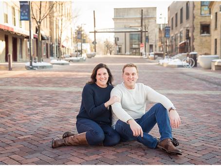 Downtown Batavia Engagement Session | Michelle & Adam