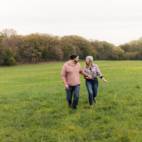 St James Farm Fall Engagement Session | Casie and Alex