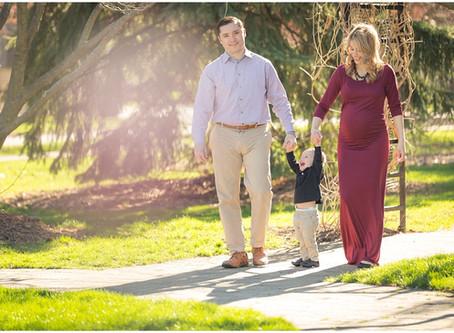 Wilder Park Maternity Photos | Kohler Family