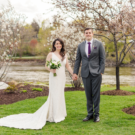 A Spring Wedding at The Industria at The Brix on the Fox , Carpentersville | Molly & Mike