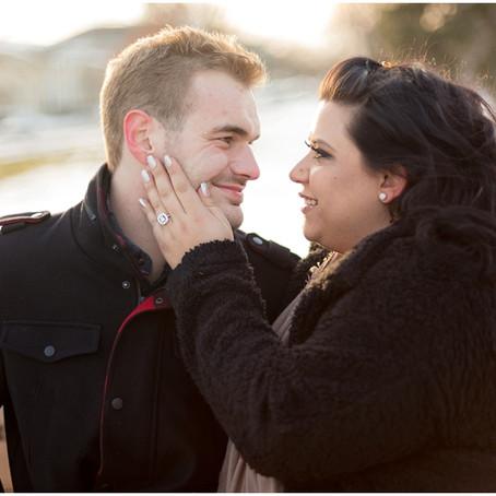 Wheaton College Winter Engagement Photos | Samantha + Corey