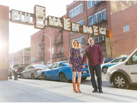 Fulton Market Engagement Session | Mandy & Steve