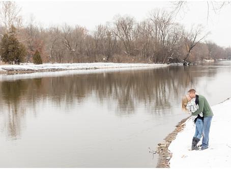 Fabyan Park Winter Engagement Session | Kelli & Matt