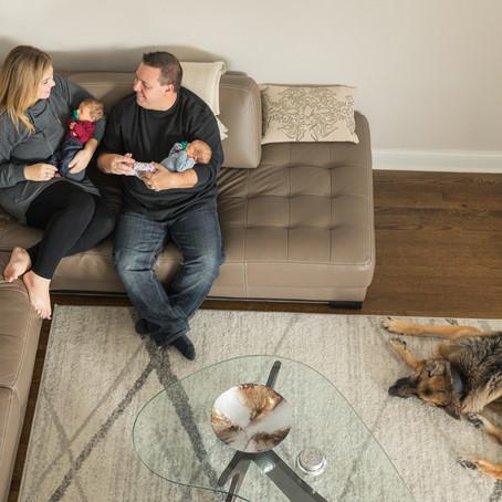 Long Grove Lifestyle Twin Newborn Session | Radosav Family