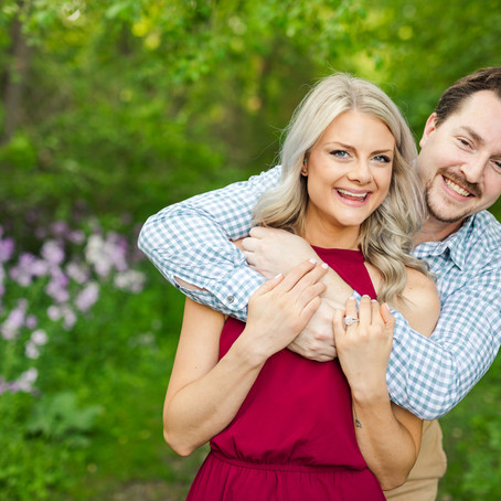 Fabyan Forest Preserve Spring Engagement Photos| Jessica and Eric