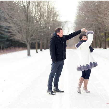 St James Farm Winter Engagement Photos, Nicole + Jeff