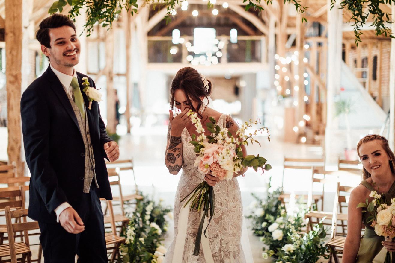 Essex first look wedding flowers