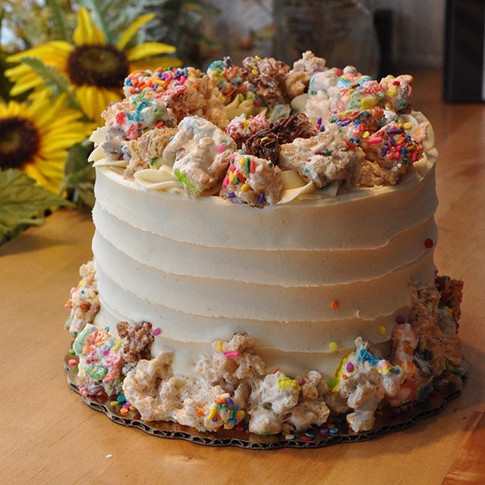 Throwback Cereal Treat Cake