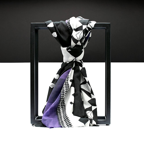 'Prism Trail' Cotton/Silk Scarf