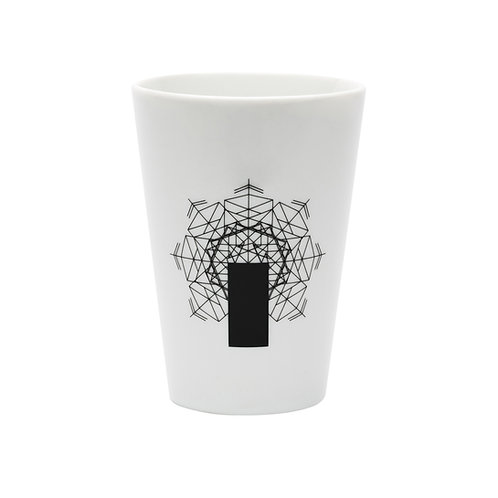 'Antenna Recto' White Beaker