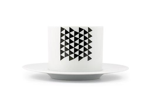 'Pyramid' Cappuccino cup