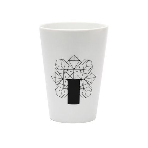 'Diamond Recto' White Beaker