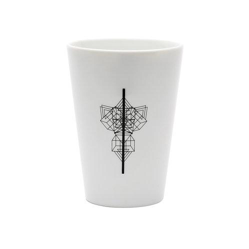 'Basket Line' White Beaker