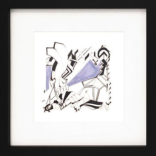 Acrylics on paper by visual artist Irene Vergitsi